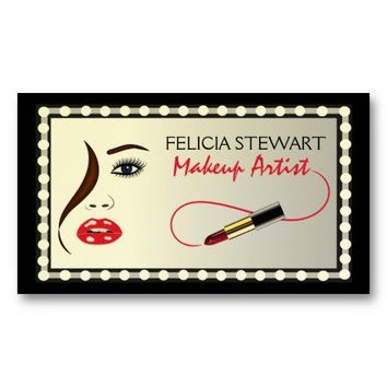 Makeup Artist Cosmetologist Business Card from Zazzle.com