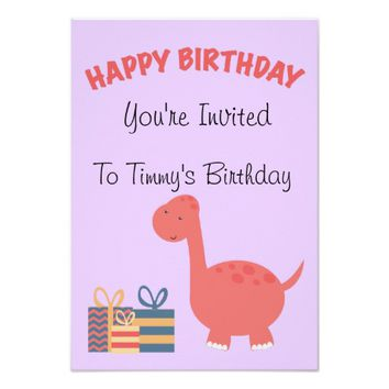 Happy Birthday Dino Theme Card