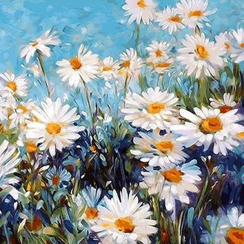 Flowers Oil Painting By Numbers Wall Pictures Coloring By Numbers Canvas Painting Wall Art Home Decor 40*50CM D315