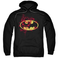 BATMAN/JOKER GRAFFITI-ADULT PULL-OVER HOODIE-BLACK