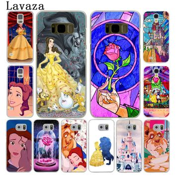 Lavaza Beauty and the Beast cute Hard Style Phone Shell Case for Samsung Galaxy S7 S6 Edge S3 S4 S5 S8 S9 Plus Cover