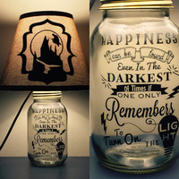 Harry Potter Inspired Mason Jar Lamp
