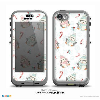 The Christmas Suited Fat Penguins Skin for the iPhone 5c nüüd LifeProof Case