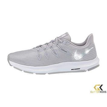 Womens Nike Quest + Crystals - Wolf grey/White/Pure Platinum
