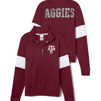 Texas A&M University Bling Half-Zip Pullover