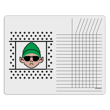 Cool Elf Christmas Sweater Chore List Grid Dry Erase Board