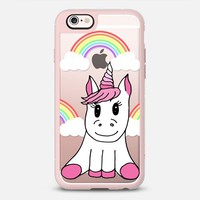 Cute Pink Girly Unicorn Illustration and Rainbows with Clouds iPhone 6s Case by BlackStrawberry   Casetify
