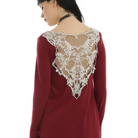 Scorpion Crochet Burgundy Girls Top