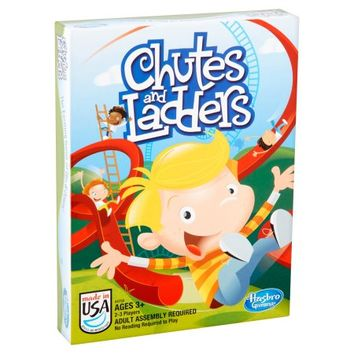 Hasbro Gaming Chutes and Ladders Game Ages 3+ - Walmart.com