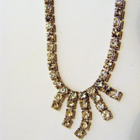 14 1/2 inch Simple Rhinestone Necklace