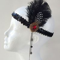 Great Gatsby Handmade Flapper Headpiece