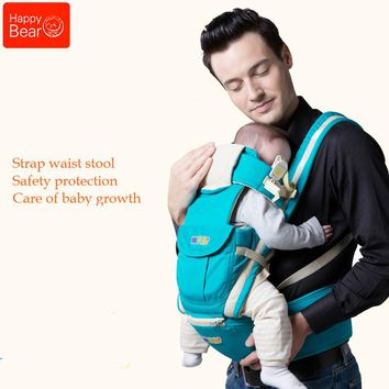 Happy Bear Multifunctional Baby Sling Lumbar Bended Baby Lumbar Stool Horizontal Hold Four Seasons Breathable and Lightweight