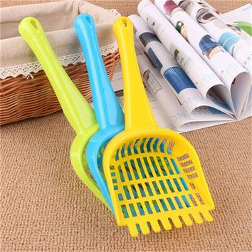 2017 Lowest price! dog puppy CAT KITTY kitten pet LITTER Box SCOOP shovel cute cat tail design Free Shipping PH34