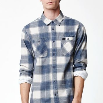 RVCA Wayman Plaid Flannel Long Sleeve Button Up Shirt - Mens Shirts
