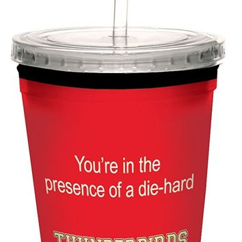 Tree-Free Greetings cc34893 Thunderbirds College Basketball Artful Traveler Double-Walled Cool Cup with Reusable Straw, 16-Ounce