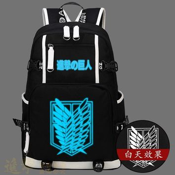 Cool Attack on Titan  no  Backpack Cosplay dom Wing Men And Women Middle School Student Backpacks Laptop Bags AT_90_11