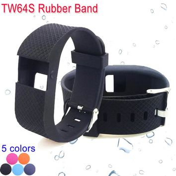 Waterproof Fitness Activity Tracker Wristband Rubber Band for TW64S Smartband Bracelet Accessories Replace Strap TW64S Watchband