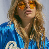 Far Out Translucent Metal Aviator Sunglasses | Urban Outfitters