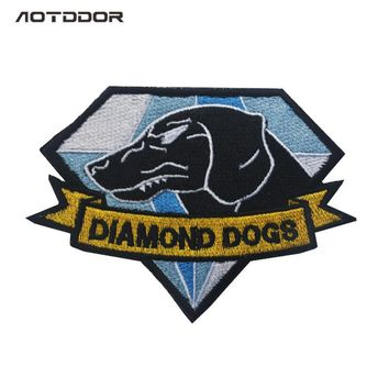 MGS Metal Gear Solid Metal Gear 5 Diamond Dogs Army Embroidery Badge Morale Embroidered Patch Appliques Hook & Loop