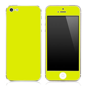 Solid Yellow skin for the iPhone 3g,3gs,4/4s or 5