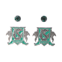 Harry Potter Slytherin House Crest Stud Earring Set