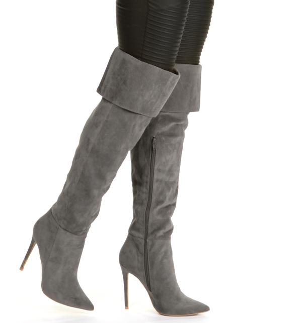 Gray On Top Thigh-high Boots from Windsor | Shoes