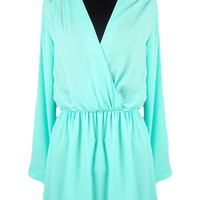 Young & Beautiful Long Sleeve Dress - Mint