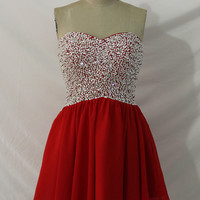 Sparkly Sequins Bodice Sweetheart Elegant Pink Homecoming Dress