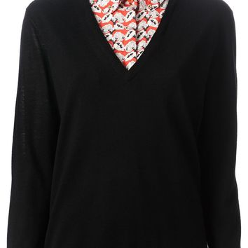 Tory Burch 'Lacey' layered sweater