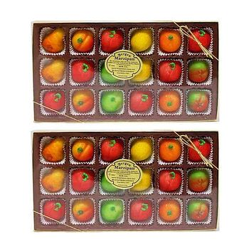 FREE Shipping | 2 Pack Bergen Marzipan Fruit Shaped Marzipan 8 oz. (18 Pcs)