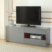 Acme 90170 Isaura retro modern gray finish wood tv stand