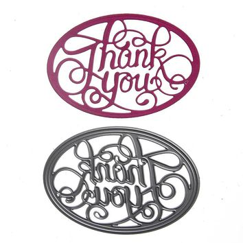 Kids Drawing Toys Metal Cutting Cut Stencil Craft Letter Thank You Dies