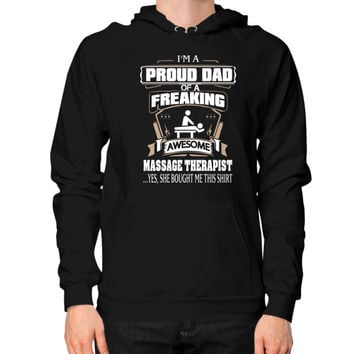 IM A PROUD massage dad Hoodie (on man)