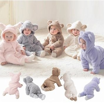 Baby Fleece Rompers, Sizes 0 - 12 Months