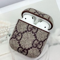 GUCCI trend for men and women AirPods Bluetooth wireless headset cover slip storage cover (no headphones)
