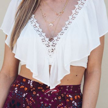 Coconut Lace Top Ivory