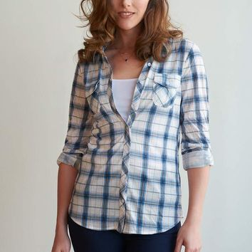 Bethany Plaid Check Button-Up