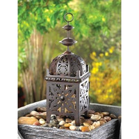 Metal Moroccan Style Votive Candle Lantern Home Decor