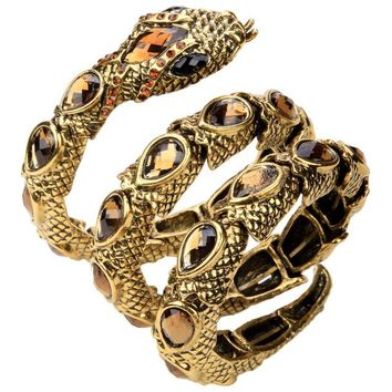 Crystal Snake Stretch Bracelet  - 26 Styles in Gold Silver or Charcoal