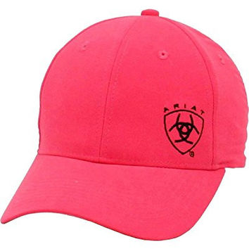 Ariat Women's Ladies Logo Embroidered Cap Hot Pink One Size