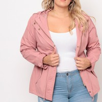 Plus Size Utility Element Coat - Blush