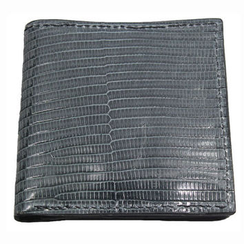 Tegu Lizard Hipster Wallet in Grey - Real Tegu Lizard Skin Leather - Free Shipping to USA