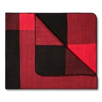 Adam Lippes for Target Throw Blanket - Red & Black Plaid