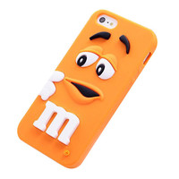 M&M's Chocolate Beans Soft Silicon Phonecase for iPhone 5c (Orange).