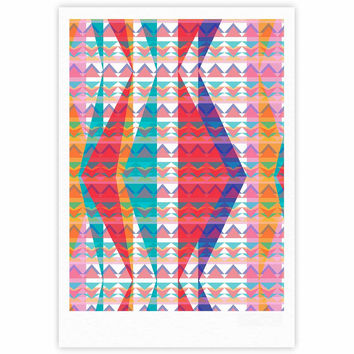 "Miranda Mol ""Triangle Illusion"" Multicolor Geometric Fine Art Gallery Print"