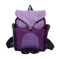 Newest X Feeling Fashion Cute Owl Backpack Women Cartoon School Bags For Teenagers Girls Nylon Women Backpack