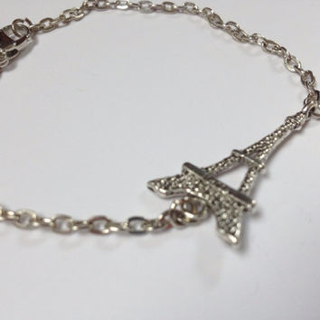 Eiffel Tower Paris Silver Bracelet