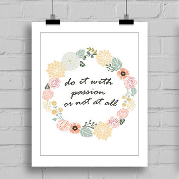 Do It With Passion Printable Wall Decor (JPG/PDF) 8x10
