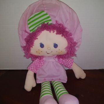 vintage 1981 strawberry shortcake raspberry tart rag doll plush