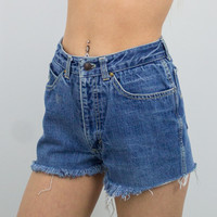 Vintage (Size XS) Sasson Distressed High Waisted Denim Shorts